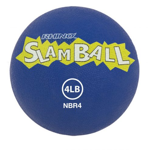 Champion Sports NBR4 4 lbs Rhino Slam Ball Blue