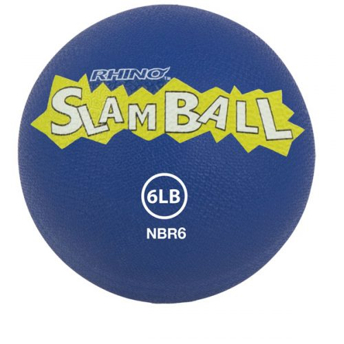 Champion Sports NBR6 6 lbs Rhino Slam Ball Blue