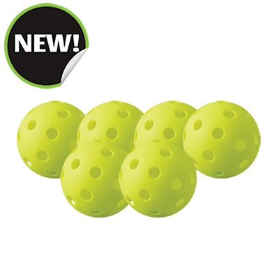 Champion Sports PB6INDSET Indoor Pickleball Optic Yellow - Set of 6