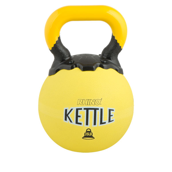 Champion Sports RKB35 35 lbs Rhino Kettle Bell Yellow