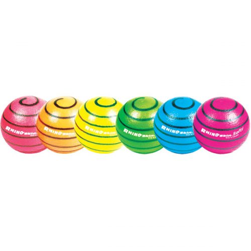 Champion Sports RS63NSET 6.3 in. Rhino Skin Ball Set Multicolor - Set of 6 - 100 g