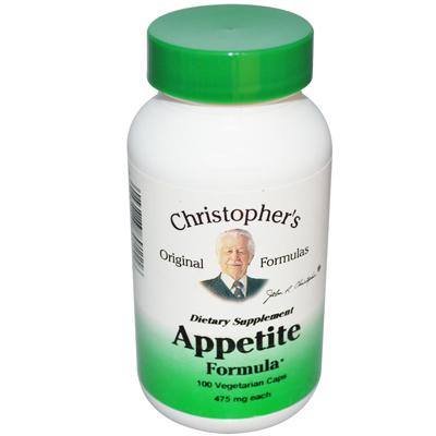 Christophers Appetite Formula - 475 mg - 100 Vegetarian Capsules