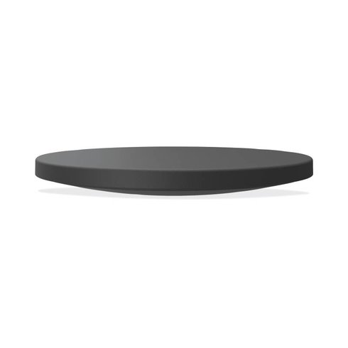 Circle Wobble Board with Anti-Fatigue Mat Black