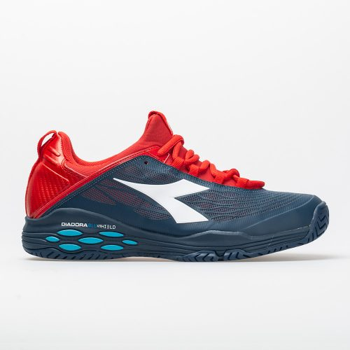 Diadora Speed Blushield Fly AG: Diadora Men's Tennis Shoes Dark Blue/Red Capital