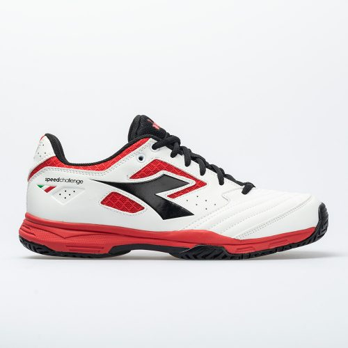 Diadora Speed Challenge 2 AG: Diadora Men's Tennis Shoes White/Red/Black