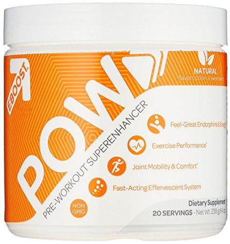 Eboost 5860012 Natural Pre-Workout Powder for Men & Women Berry Melon - 20 Serving