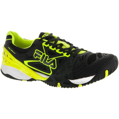 Fila Cage Delirium: Fila Men's Tennis Shoes Black/Safety Yellow/White