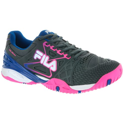Fila Cage Delirium: Fila Women's Tennis Shoes Dark Shadow/Pink Glo/Royal Blue