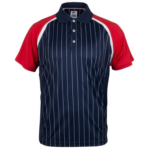 Fila Heritage Pinstripe Polo Fall 2018: Fila Men's Tennis Apparel
