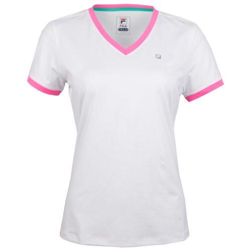 Fila Windowpane V Neck Top: Fila Women's Tennis Apparel