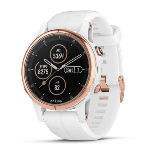 Garmin fenix 5s Plus Sapphire White/Rose Gold: Garmin Heart Rate Monitors