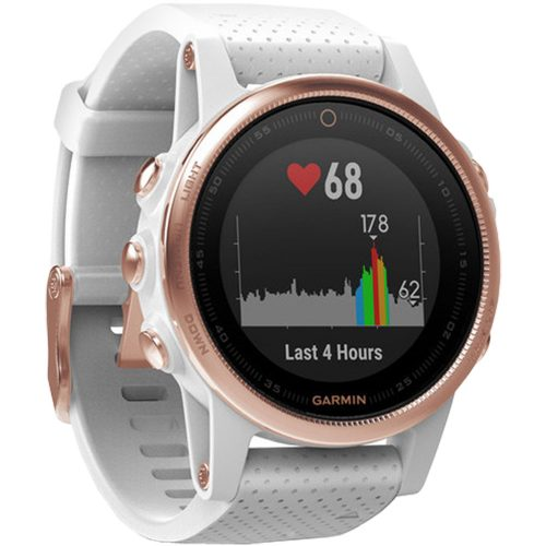 Garmin fenix 5s Sapphire Rose Gold with White Band: Garmin Heart Rate Monitors