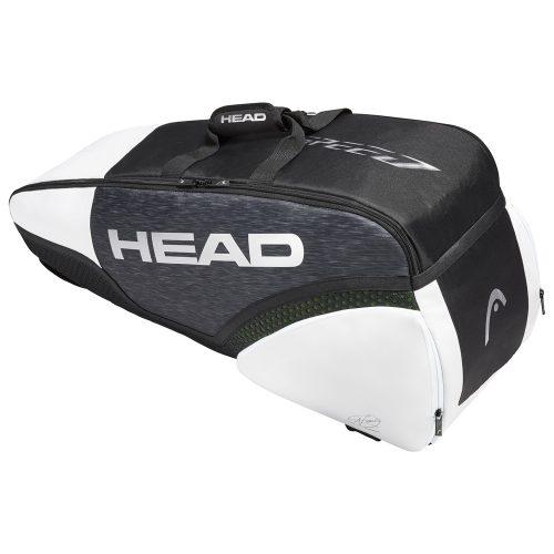 HEAD Djokovic 6 Racquet Combi Bag Black/White: HEAD Tennis Bags