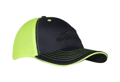 Headsweats Trucker Hat - black/hi viz yellow w/ headsweats, one size