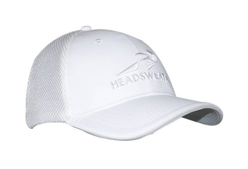 Headsweats Trucker Hat - white/grey with headsweats, one size