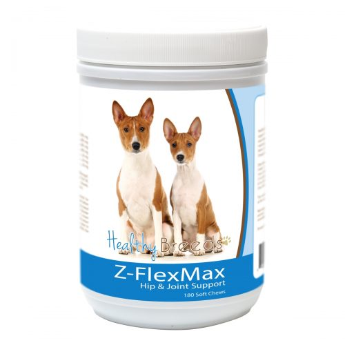 Healthy Breeds 840235155614 Basenji Z-Flex Max Dog Hip & Joint Support - 180 Count