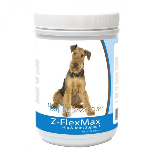 Healthy Breeds 840235155836 Airedale Terrier Z-Flex Max Dog Hip & Joint Support - 180 Count