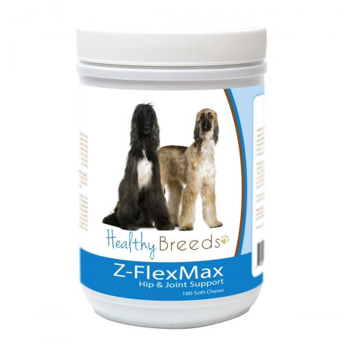 Healthy Breeds 840235155980 Afghan Hound Z-Flex Max Dog Hip & Joint Support - 180 Count