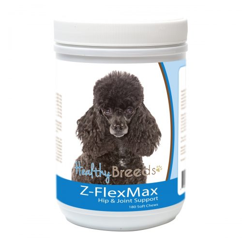 Healthy Breeds 840235156215 Poodle Z-Flex Max Dog Hip & Joint Support - 180 Count