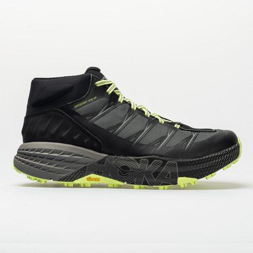 Hoka One One Speedgoat Mid WP: Hoka One One Men's Hiking Shoes Black/Steel Gray