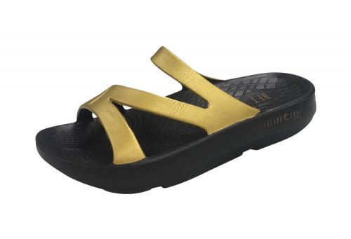 Island Surf Company Coral Sandals - Women's - black/gold, 6