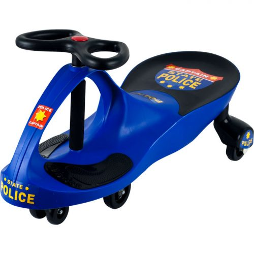 Lil Rider M370004 Police Car Ride on Wiggle Car by Lil for Boys & Girls Blue & Black