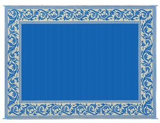 MINGS MARK RA3 Classical Mat 9x12 Blue Beige