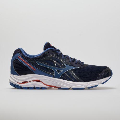 Mizuno Wave Inspire 14: Mizuno Men's Running Shoes Evening Blue/Cherry Tomato