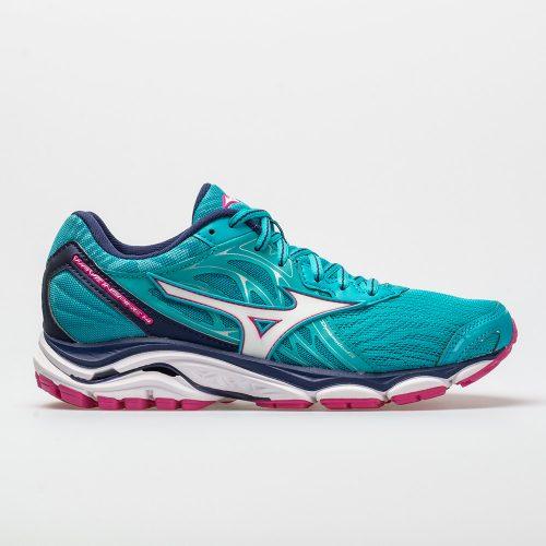 Mizuno Wave Inspire 14: Mizuno Women's Running Shoes Peacock Blue/Fuchsia Purple