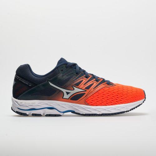 Mizuno Wave Shadow 2: Mizuno Men's Running Shoes Flame/Dress Blue