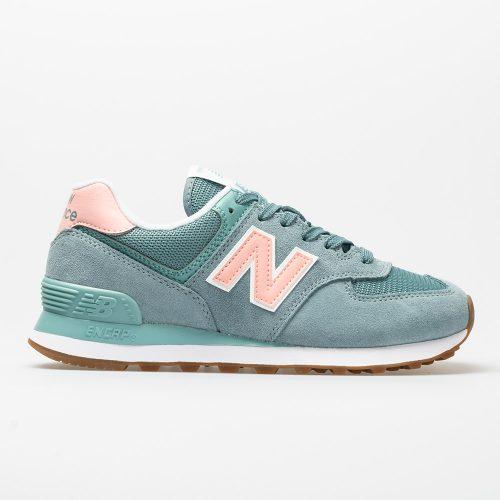 New Balance 574 Summer Dusk: New Balance Women's Running Shoes Smoke Blue/Himalayan Pink