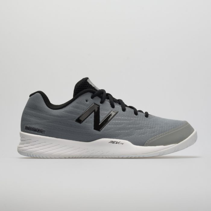 New Balance 896v2: New Balance Men's Tennis Shoes Team Away Gray/Black