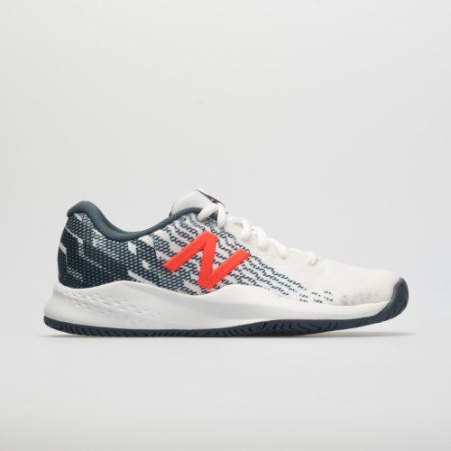 New Balance 996v3 Junior White/Petrol: New Balance Junior Tennis Shoes