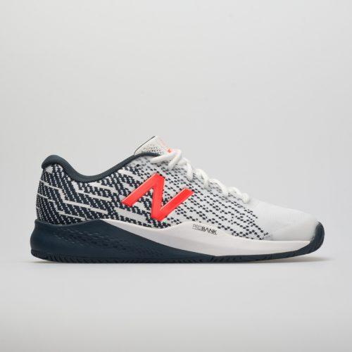 New Balance 996v3: New Balance Men's Tennis Shoes White/Petrol/Flame