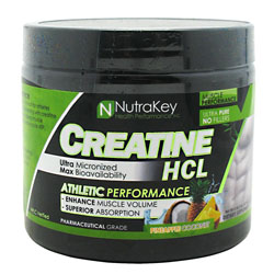 Nutrakey 6150090 Creatine Hcl Pineapple Cocont 125 Serving