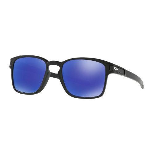 Oakley Latch Square Matte Black Violet Iridium Polarized: Oakley Sunglasses