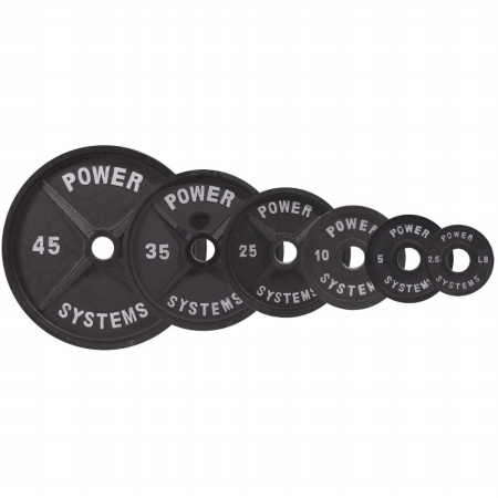 Power Systems 61110 10 lbs Pro Olympic Plate - Black