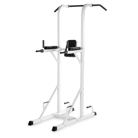 Power Tower with Dip Station & Pull Up Bar White
