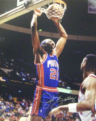 RDB Holdings & Consulting CTBL-014058 8 x 10 in. John Salley Signed Detroit Pistons Blue Jersey Photo