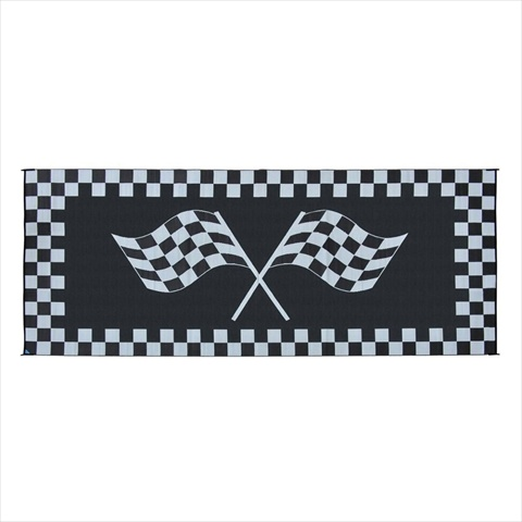 RF8201 Racing Mat 8x20 Black White
