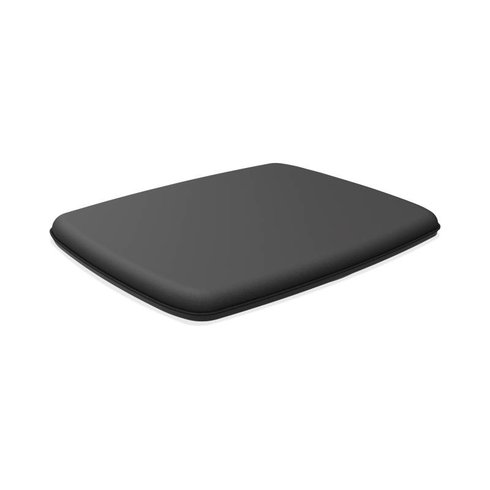 Rectangle Wobble Board with Anti-Fatigue Mat Black