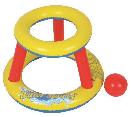 Rhino Master Play NT6027 Inflatable Mini Splashketball Pool Game Yellow & Red