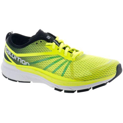 Salomon Sonic RA Pro: Salomon Men's Running Shoes Safety Yellow/Black/Blue Bird
