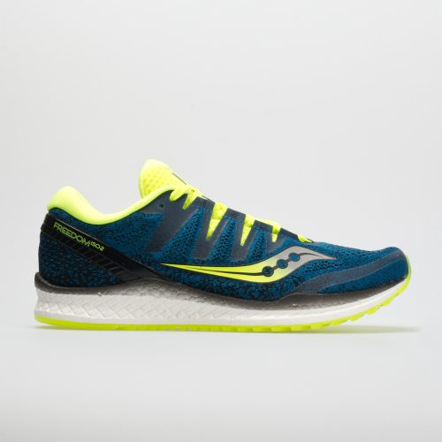 Saucony Freedom ISO 2: Saucony Men's Running Shoes Blue/Citron