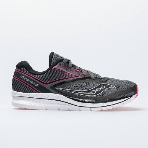 Saucony Kinvara 9: Saucony Women's Running Shoes Grey/Black/Pink