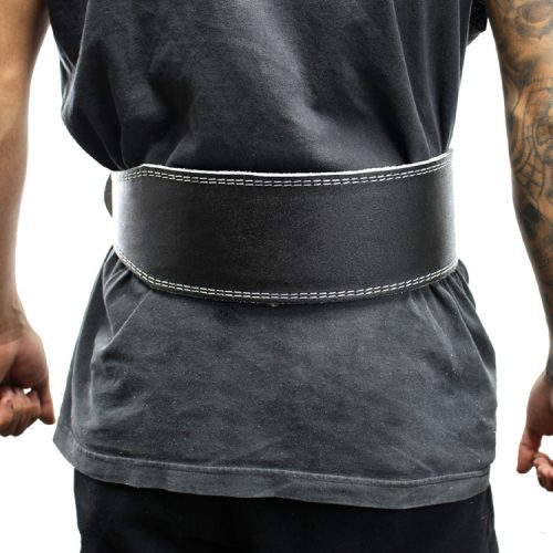 Shelter 253-XXL 6 in. Last Punch Leather New Split Weight Lifting Body Building Belt Gym Fitness Black - 2XL
