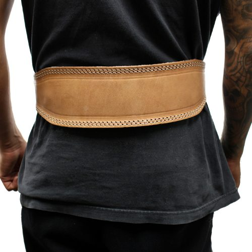 Shelter 254-XXL 4 in. Last Punch Weight Lifting Body Building Belt Gym Fitness Wide Padded Leather Brown - 2XL