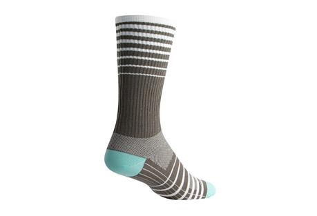 "Sock Guy Cascade 8"" Gray Crew Socks"