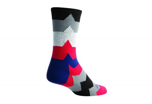 Sock Guy EKC2 Crew Socks - black/grey/red, l/xl