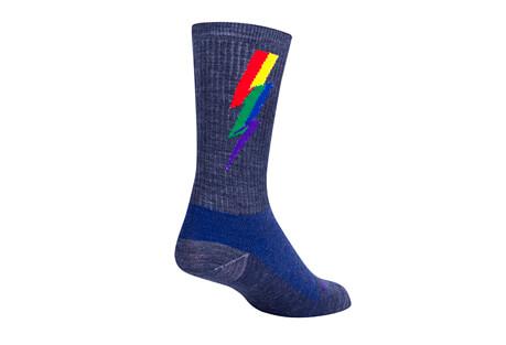 "Sock Guy Magic Bolt 6"" Wool Crew Socks"